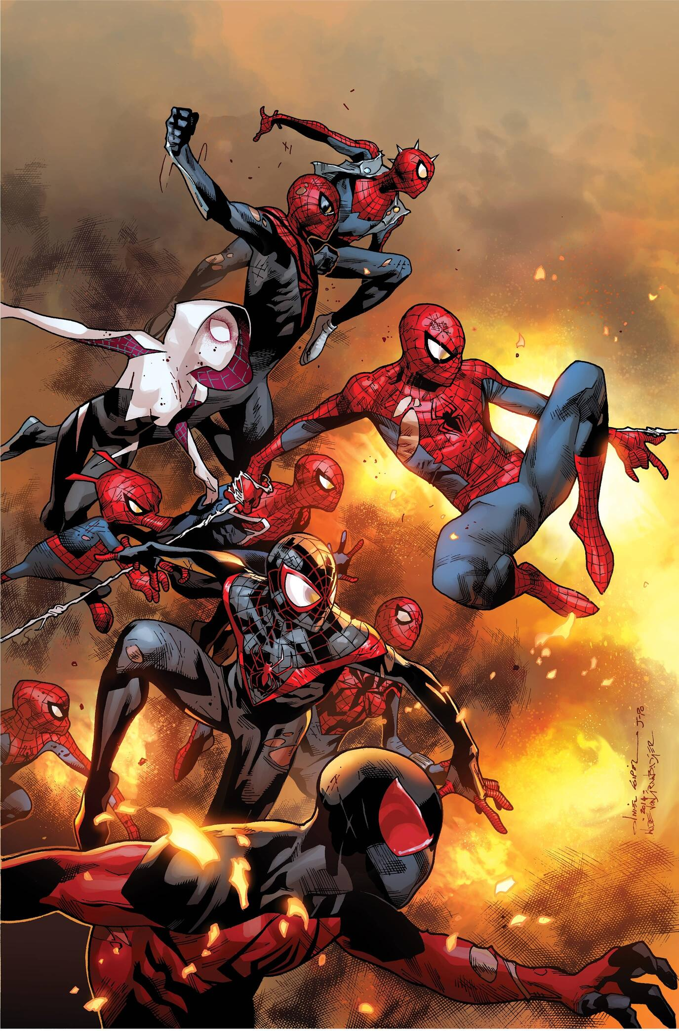 The cover to AMAZING SPIDER-MAN (2014) #13.
