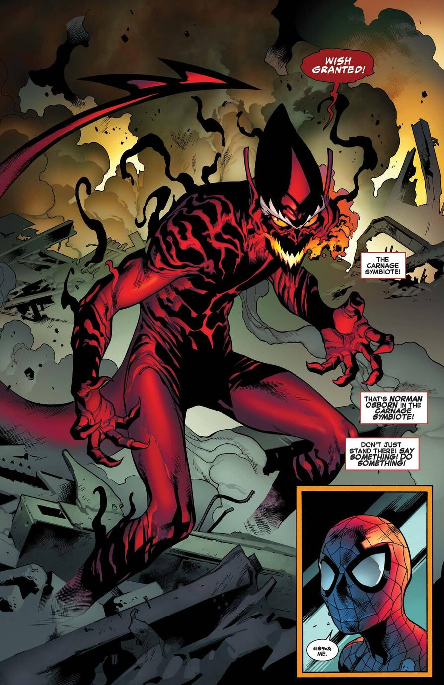 The Red Goblin rises in THE AMAZING SPIDER-MAN (2015) #798.