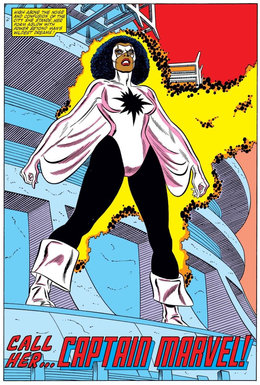 The first appearance of Monica Rambeau.