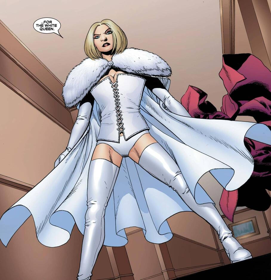 A flashback to Frost's first appearance in ASTONISHING X-MEN (2004) #16.