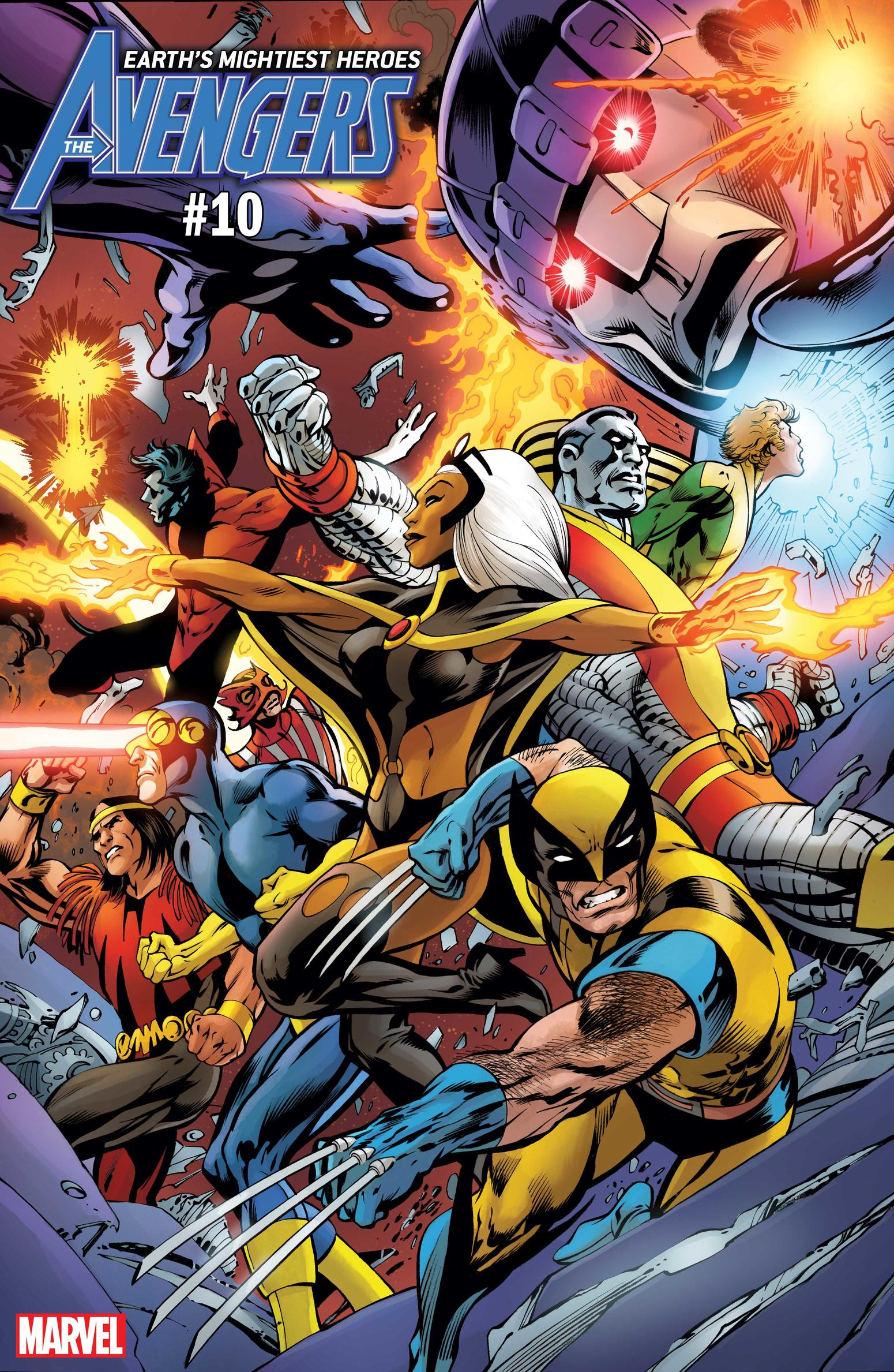 AVENGERS #10 / UNCANNY X-MEN VARIANT COVER by Alan Davis