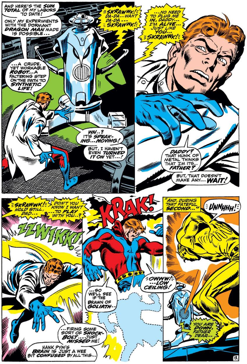 Hank Pym realizes creates Ultron