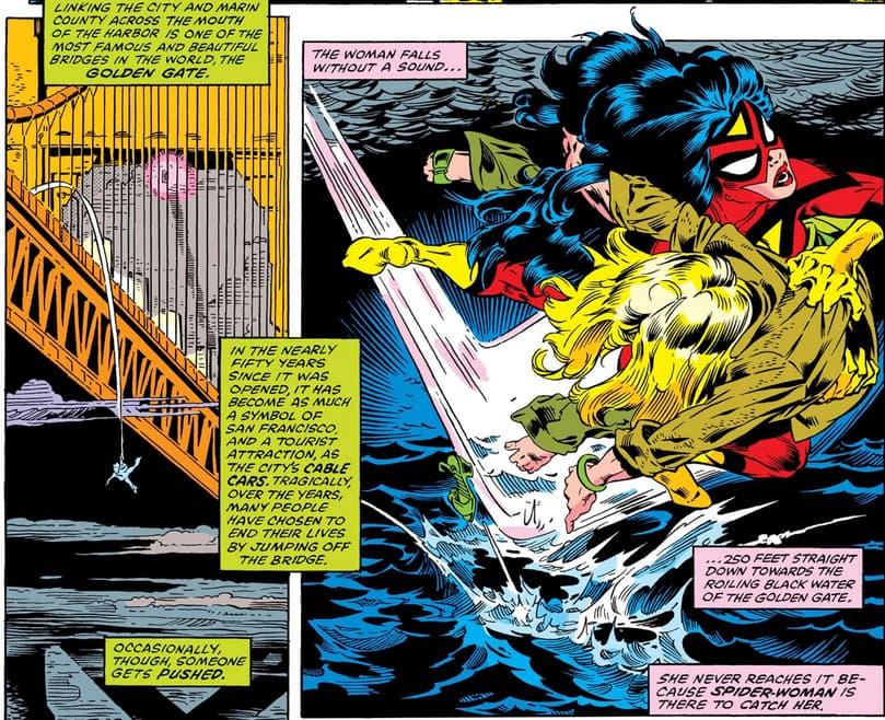 Spider-Woman saves Carol Danvers