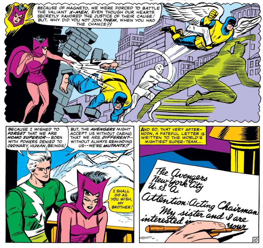 Embarking on a heroic course in AVENGERS (1963) #16.