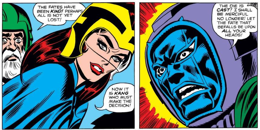 Ravonna's first appearance in AVENGERS (1963) #23!