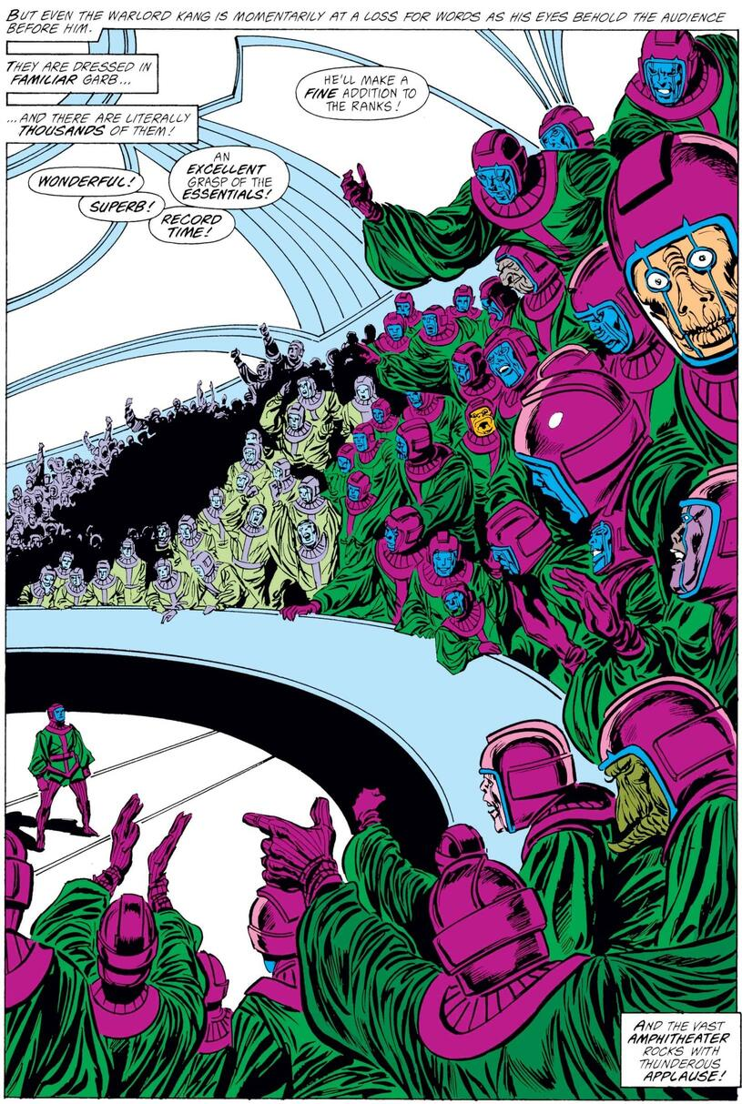 The Council of Cross-Time Kangs in AVENGERS (1963) #292.