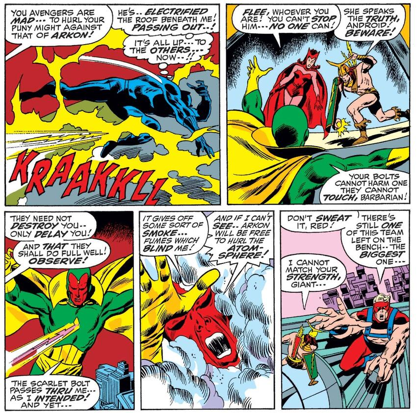 First Meeting of Scarlet Witch and Vision.