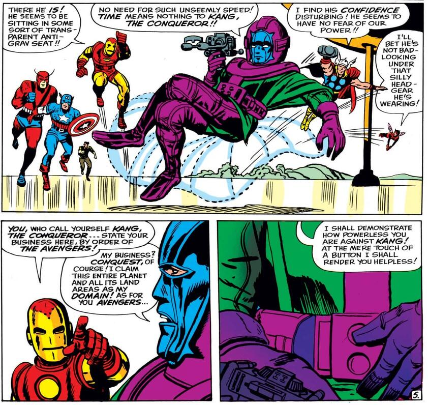 The first appearance of Kang in AVENGERS (1963) #8.