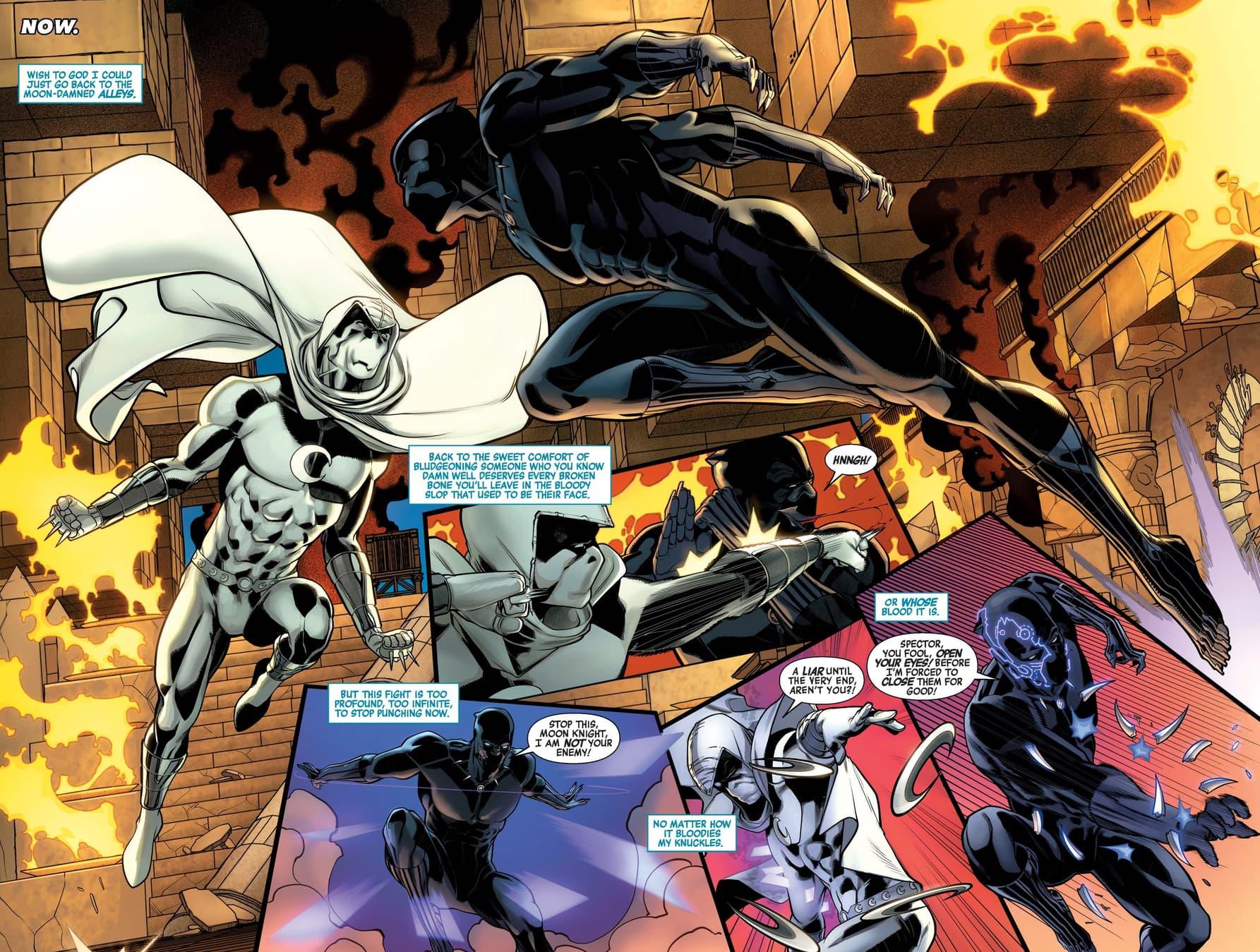 Moon Knight versus Black Panther