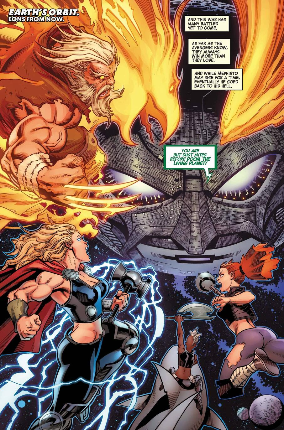 The ancient Phoenix Force in AVENGERS #38.
