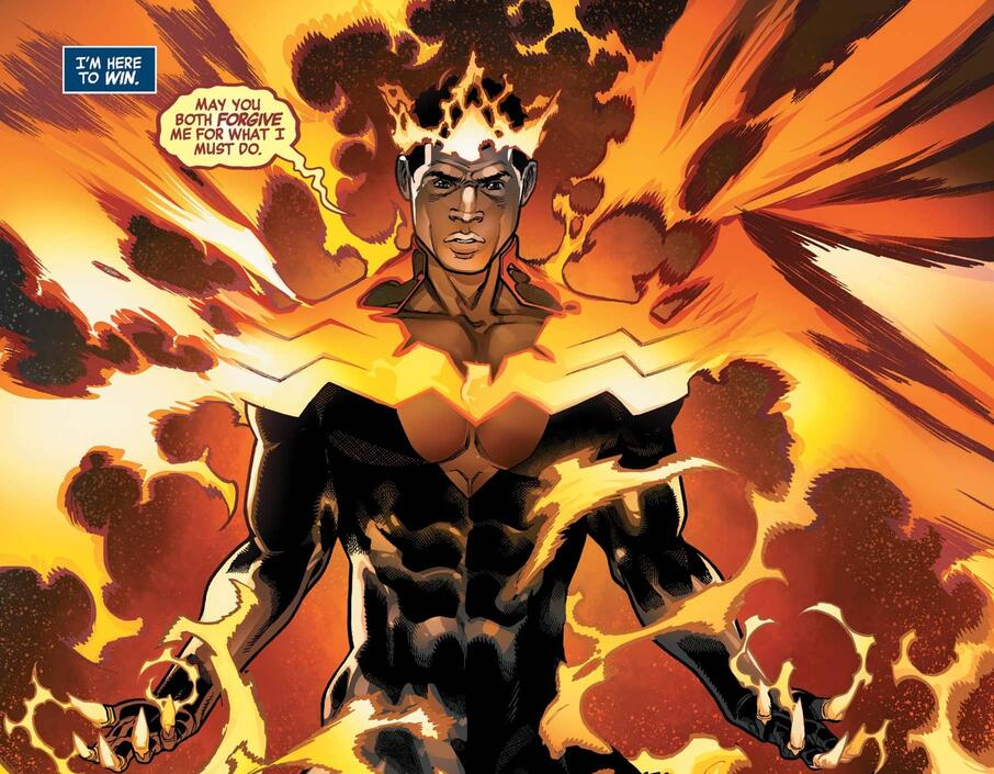 Black Panther with a dose of the Phoenix in AVENGERS (2018) #41.