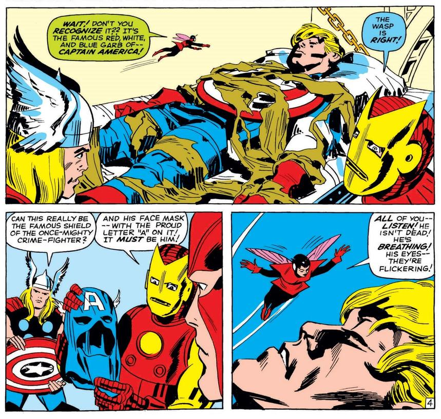 Cap comes off the ice in AVENGERS #4!