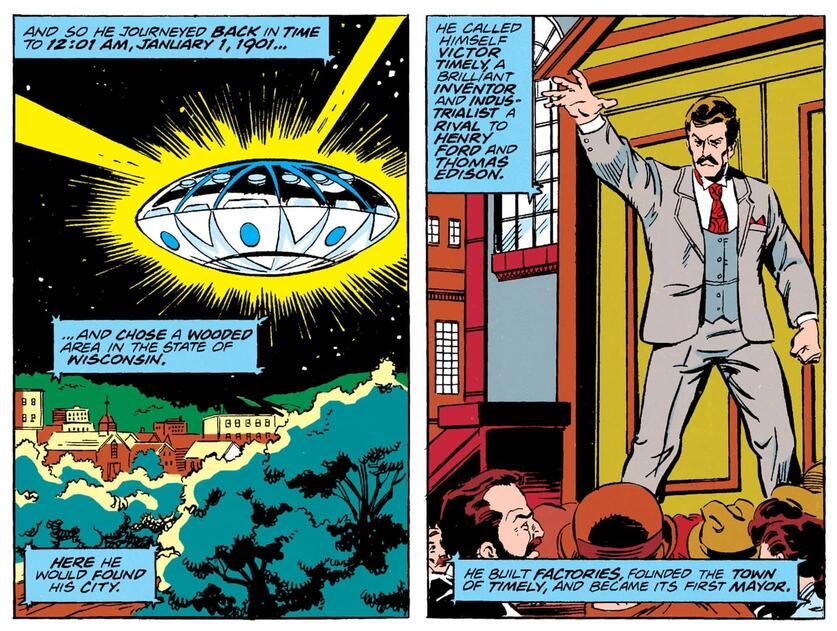 Victor Timely appears to the past in AVENGERS ANNUAL (1967) #21,
