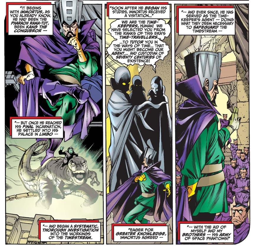 Immortus' origin in AVENGERS FOREVER (1998) #8.