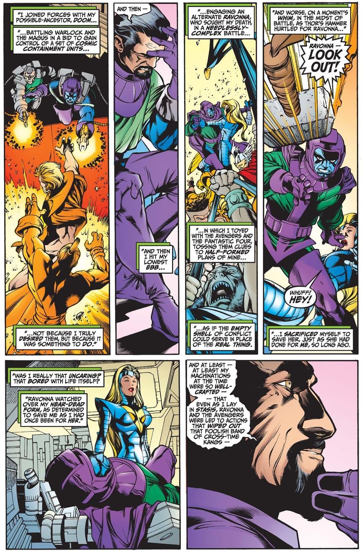 Revisit Ravonna's origin in AVENGERS FOREVER (1998) #9.