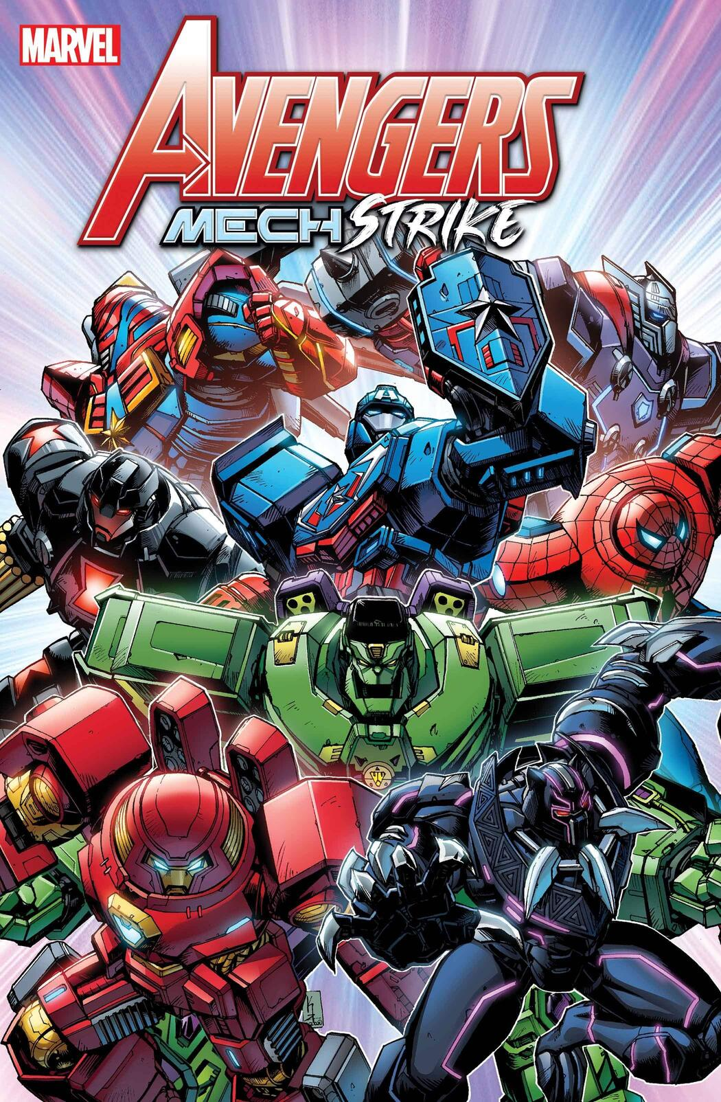 The armory of Avengers Mech Strike!
