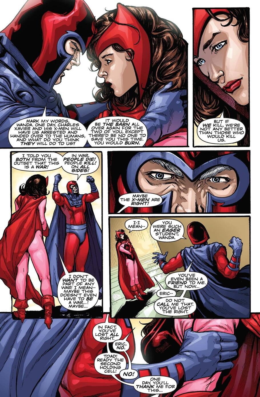 Wanda attempts to leave the Brotherhood but faces imprisonment from Magneto.