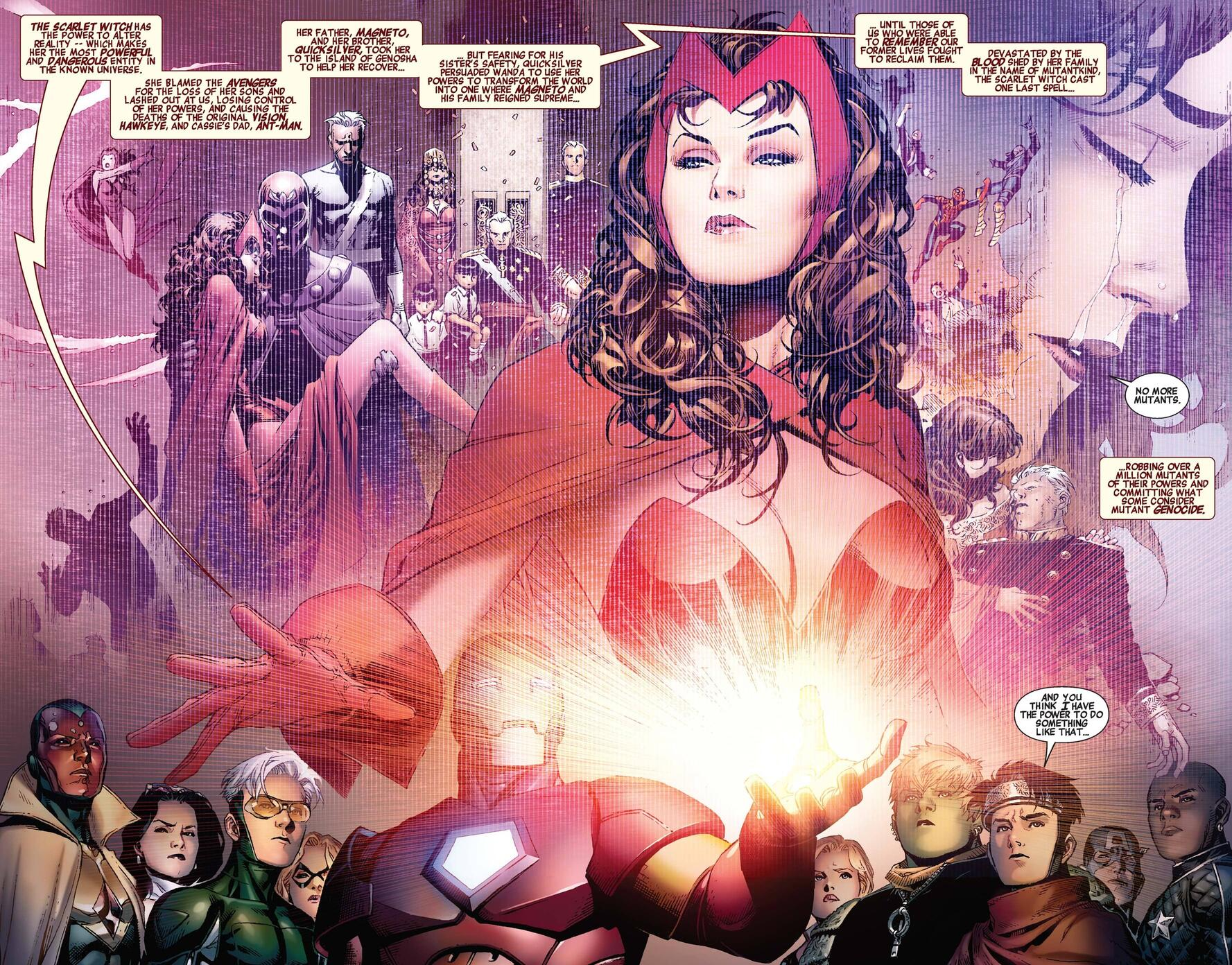 A recap of events past from AVENGERS: THE CHILDREN'S CRUSADE (2010) #1.