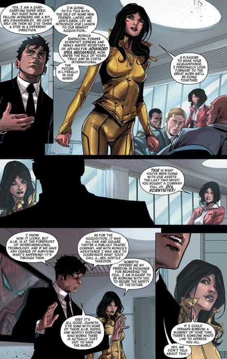 Monica e Sunspot prendono il comando in AVENGERS WORLD (2014) # 18.