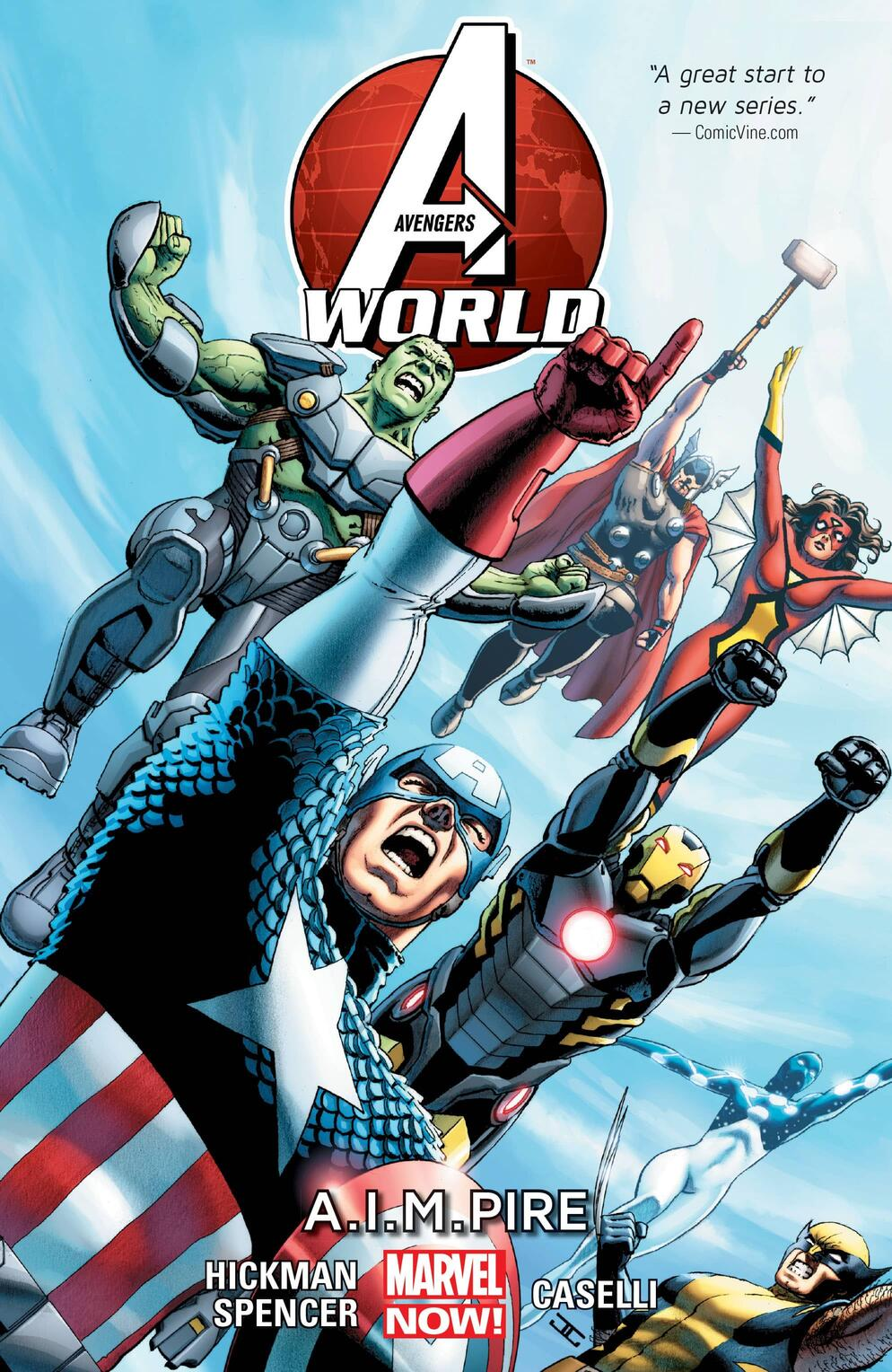 Cover to AVENGERS WORLD VOL. 1: A.I.M.PIRE.