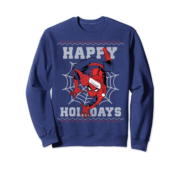 Spider-Man Happy Holidays Ugly Christmas Sweatshirt