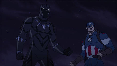 Image for Black Panther and Captain America Face Agamotto in 'Marvel's Avengers: Secret Wars'