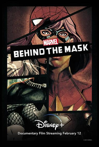 Marvel's Behind the Mask Disney Plus Tv Show Season 1 Poster Art
