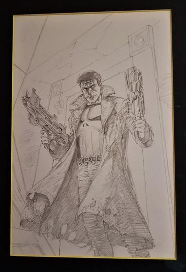 Punisher #1 cover pencils by Bernie Wrightson