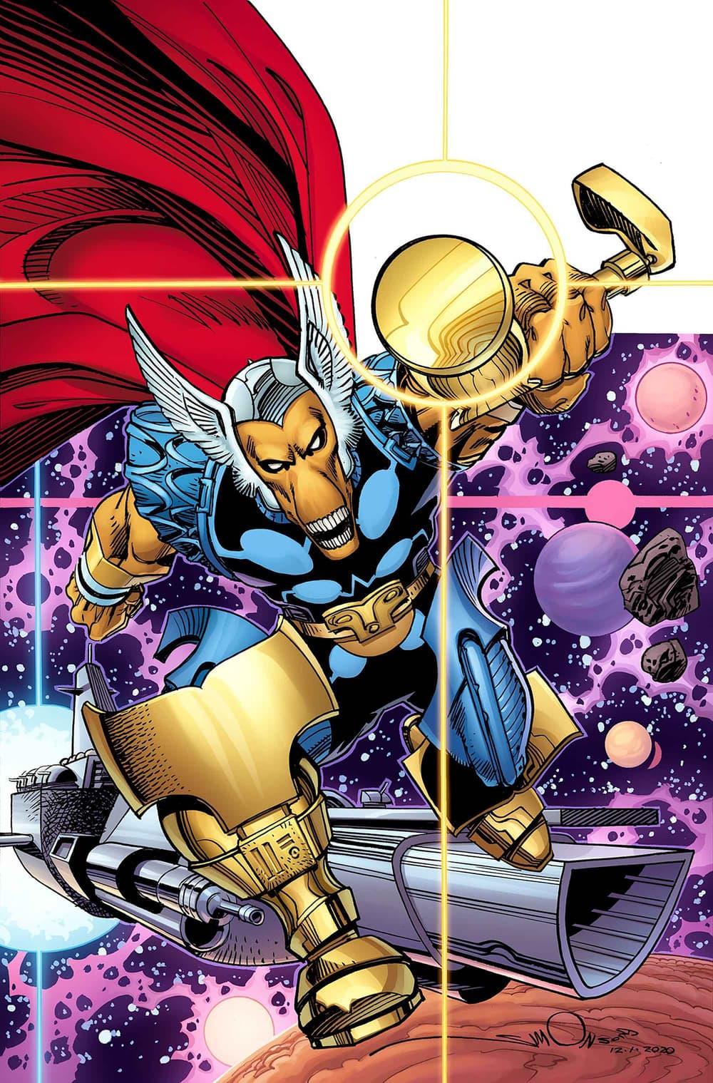 Beta Ray Bill variant cover by Walt Simonson