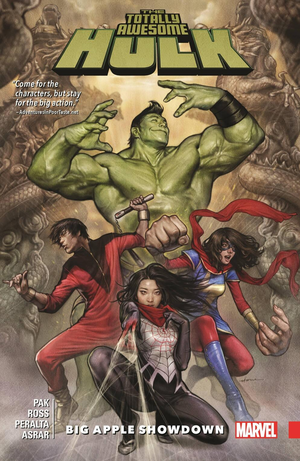 Cover to THE TOTALLY AWESOME HULK VOL. 3: BIG APPLE SHOWDOWN.