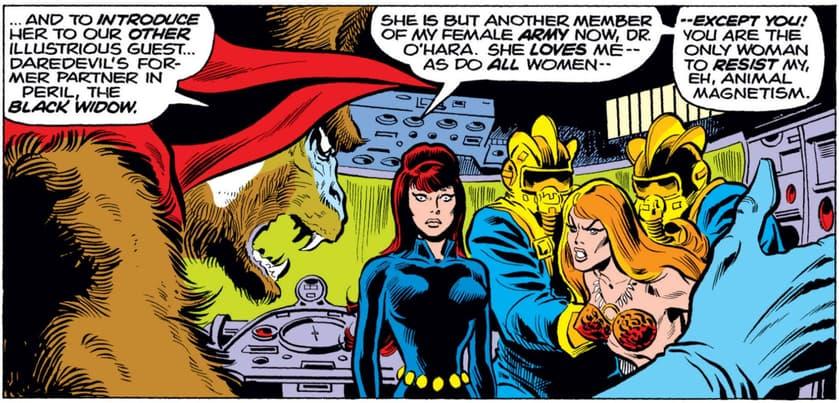 Black Widow brainwashed by Mandrill