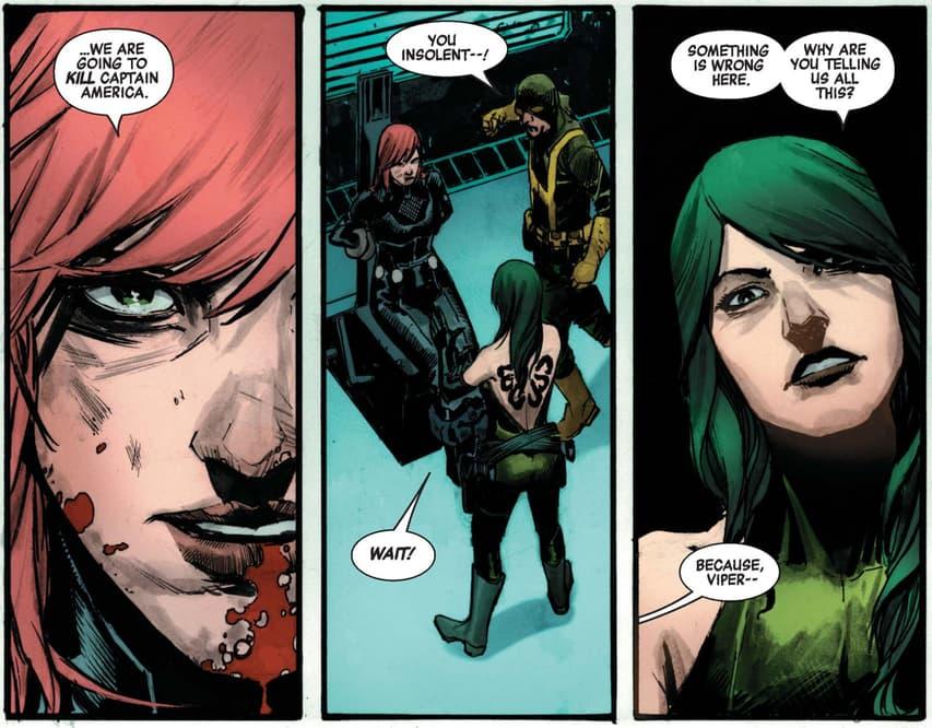 Black Widow interrogated by Viper