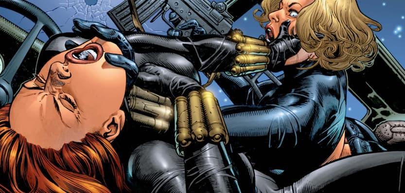 Black Widow fighting Yelena