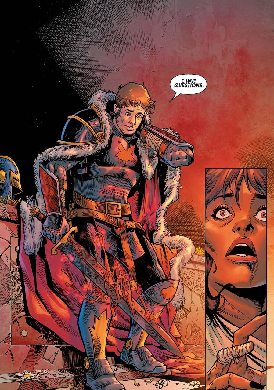 Dan Whitman seeks questions of the Ebony Blade in BLACK KNIGHT: CURSE OF THE EBONY BLADE (2021) #1.