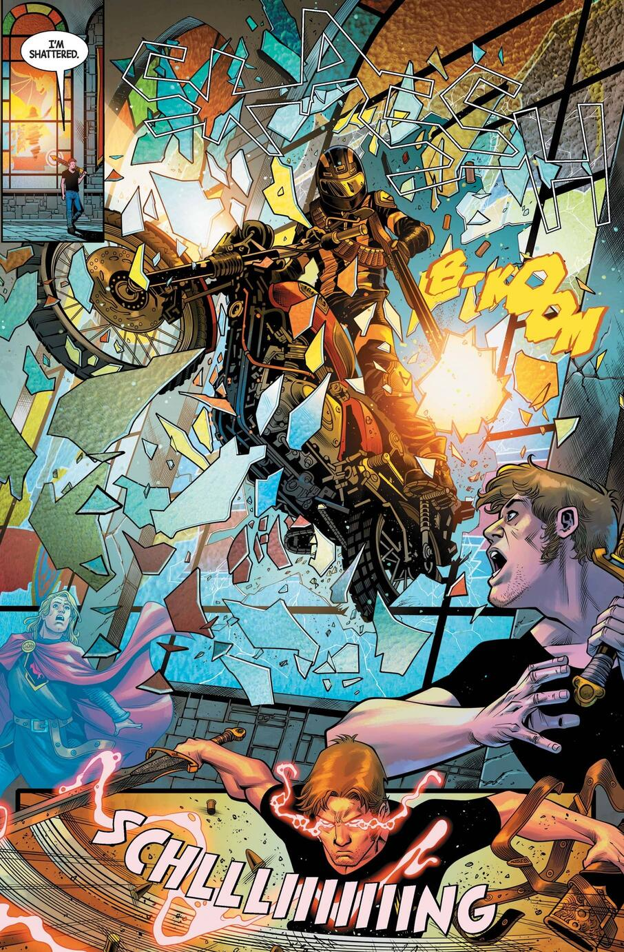 Dane Whitman faces an interruption in BLACK KNIGHT: CURSE OF THE EBONY BLADE (2021) #2.