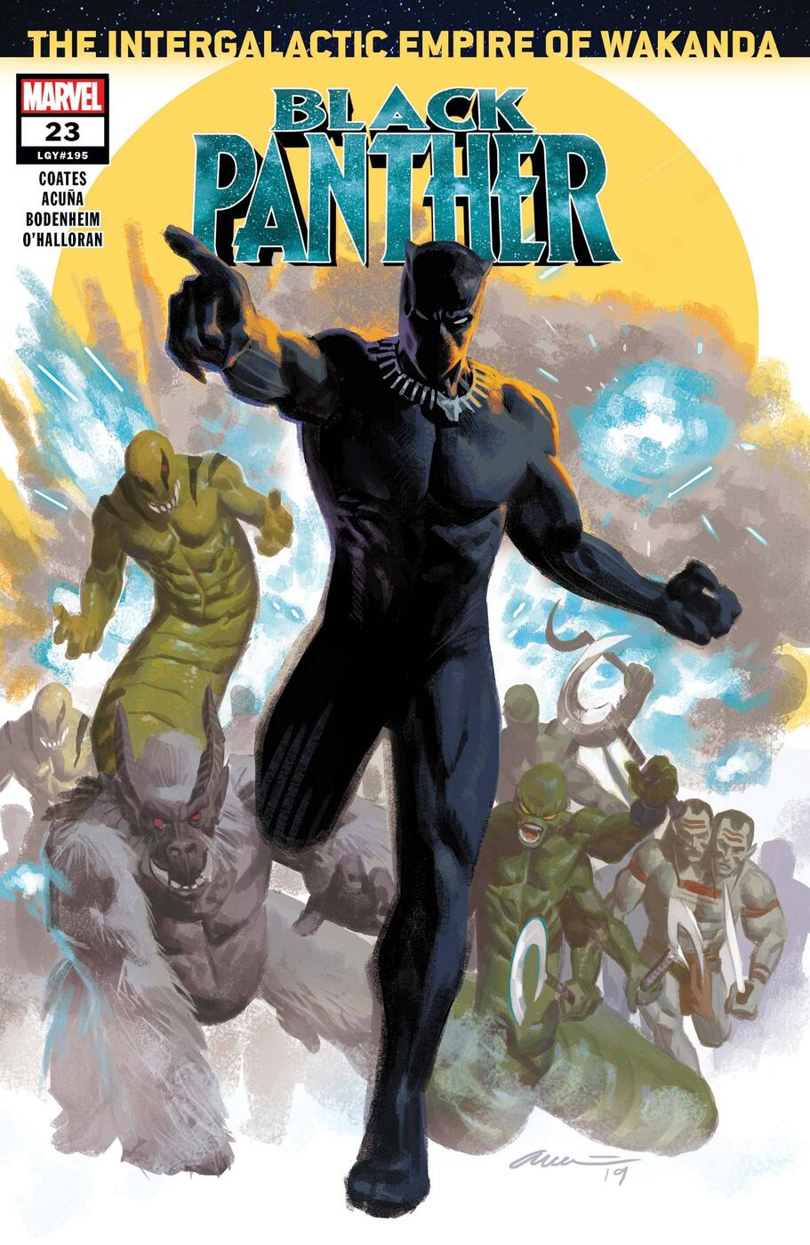 Cover to BLACK PANTHER (2018) #23.