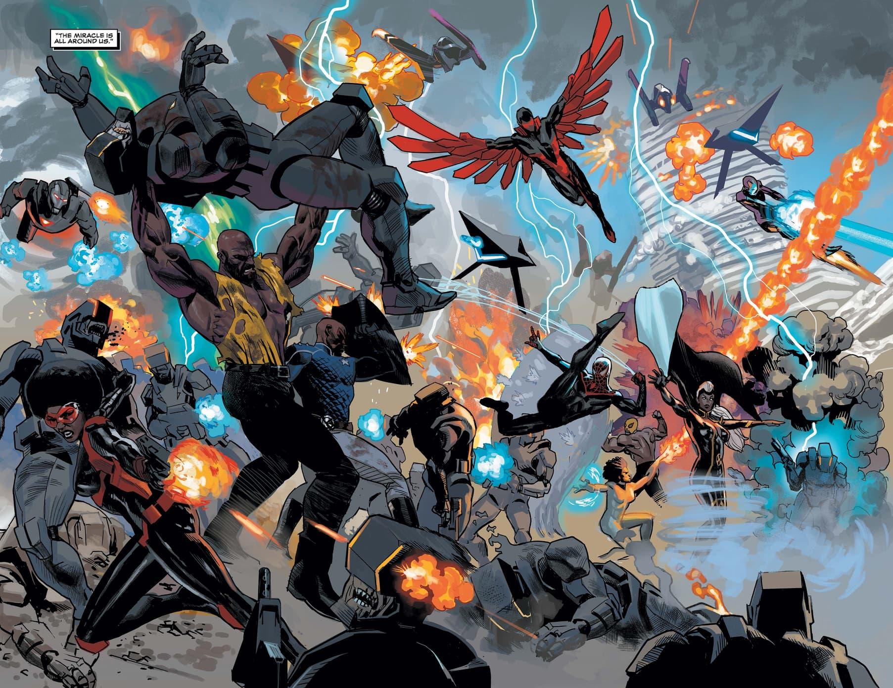 The heroes battle for Wakanda!
