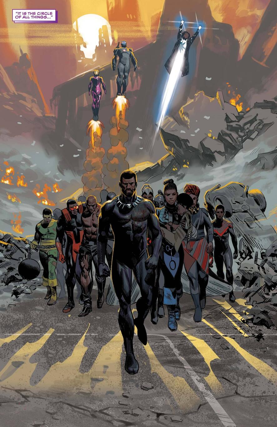 Black Panther and the heroes assemble to save Wakanda.