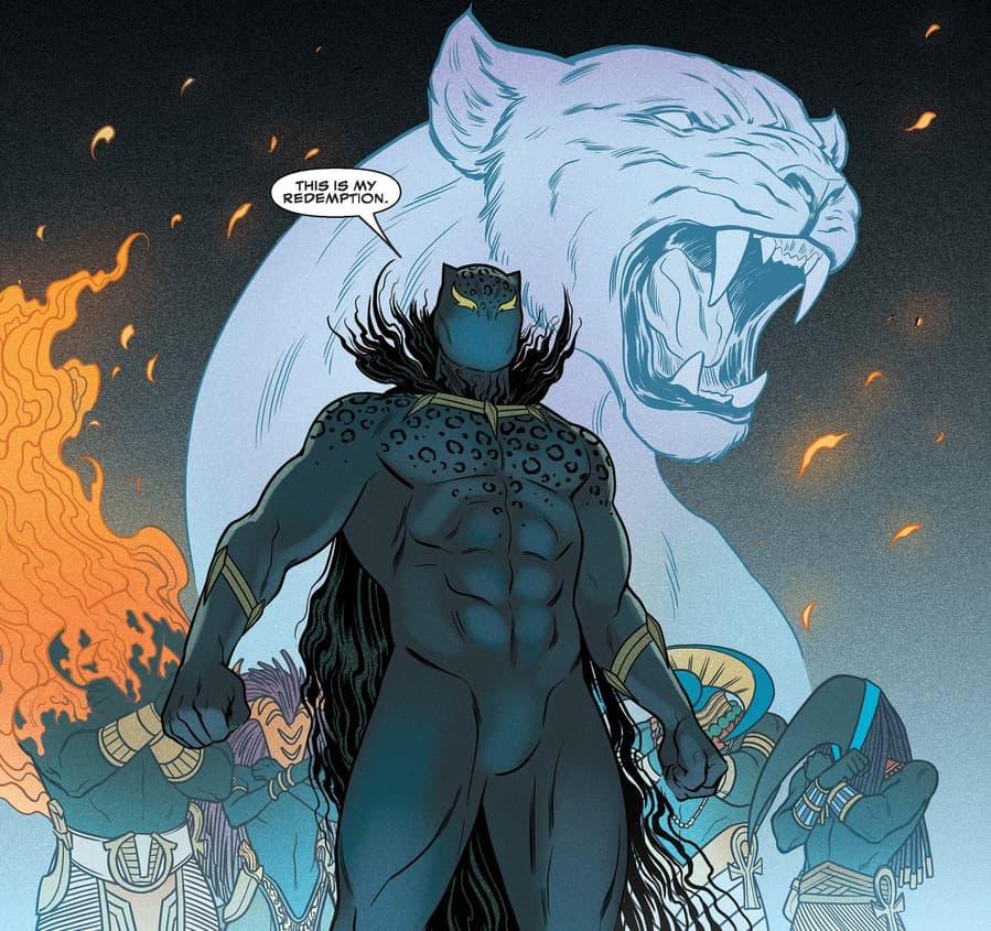 """King Killmonger"" rises in BLACK PANTHER (2018) #6."
