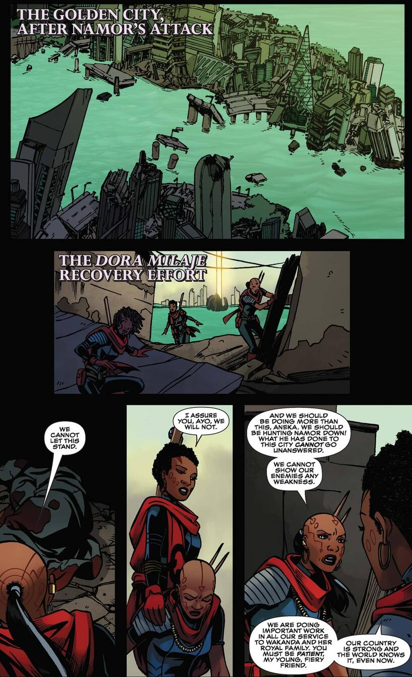 A pivotal point in BLACK PANTHER: WORLD OF WAKANDA (2016) #2.
