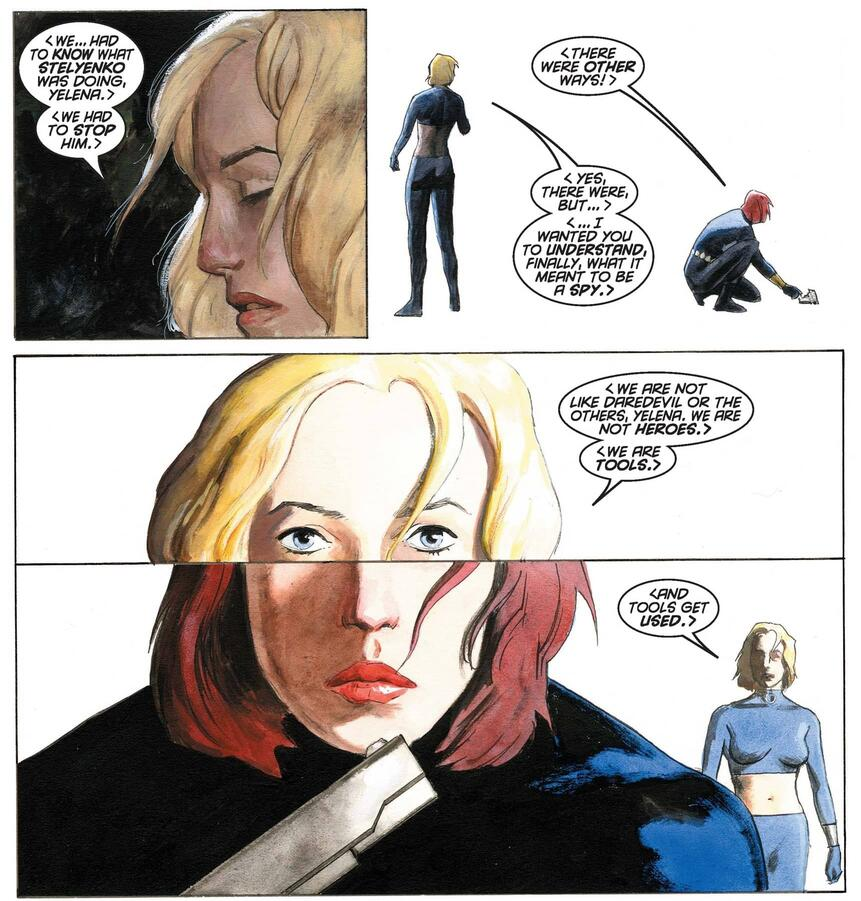 A face-swapping mission replaces Yelena with Natasha's identity.