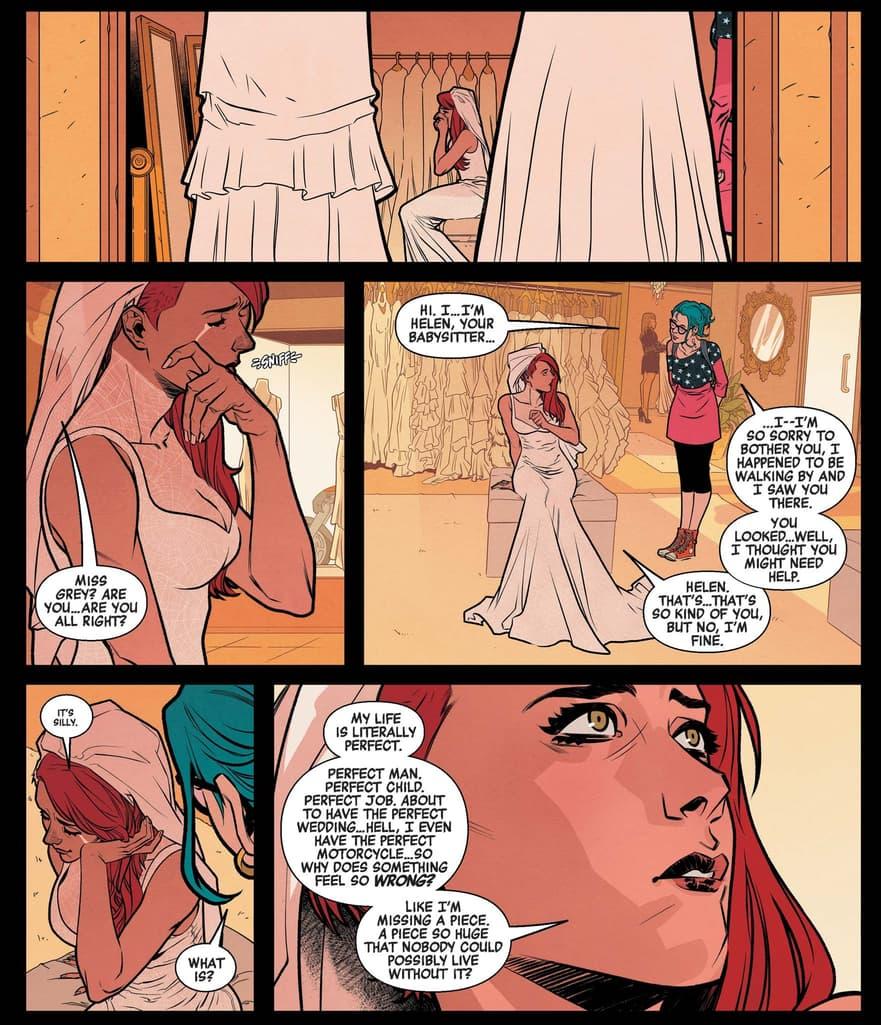 A preparation for a wedding in BLACK WIDOW (2020) #3.