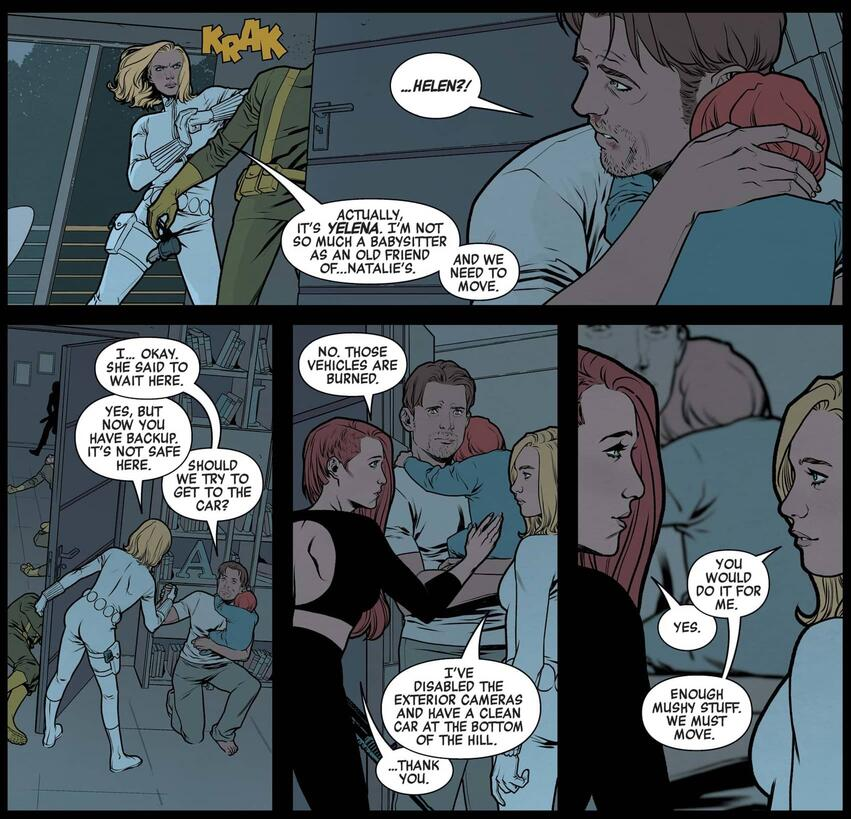 """Helen,"" AKA Yelena, rescues Natasha and her ""family."""