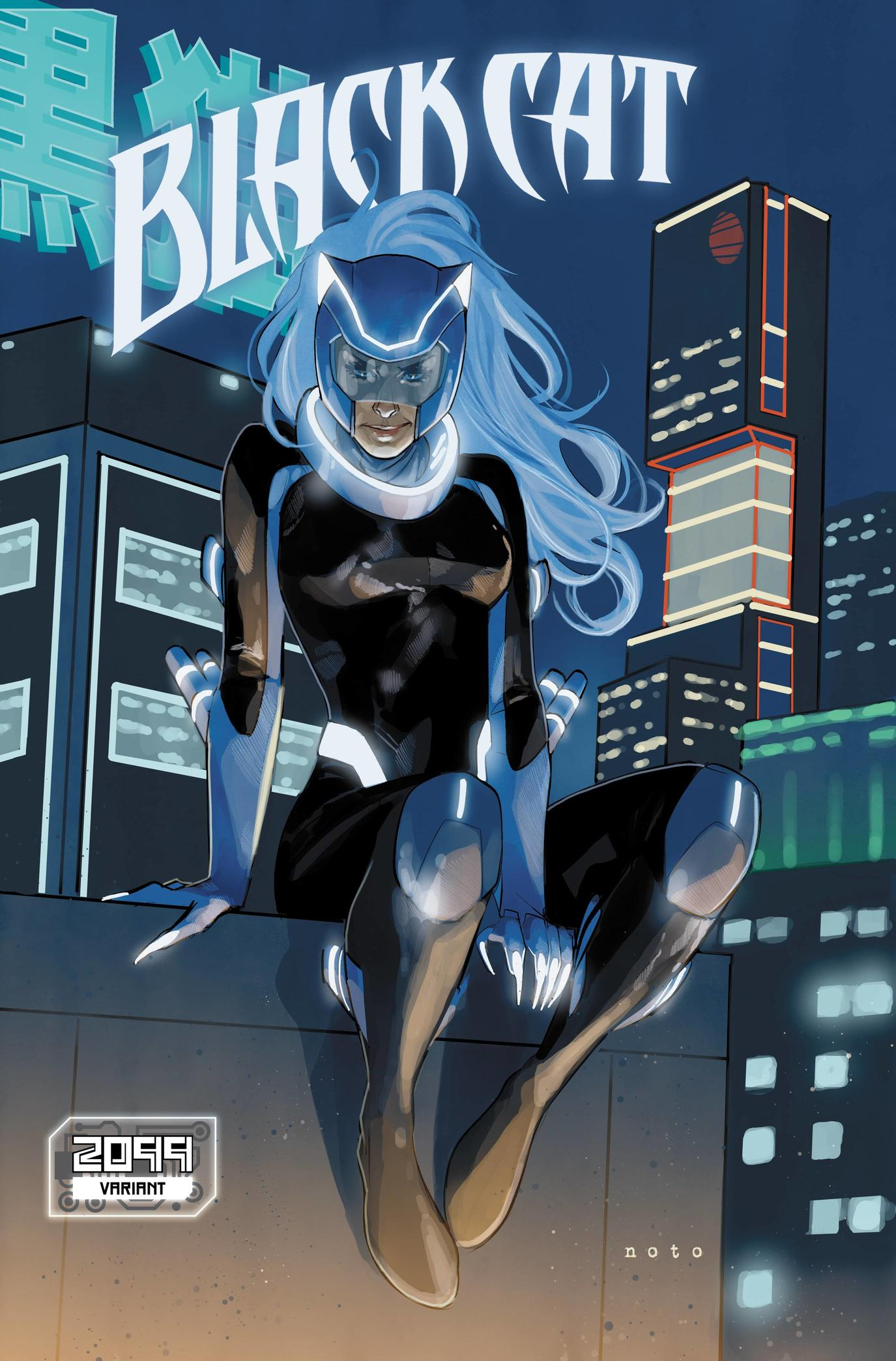 BLACK CAT #6 variant art by Phil Noto