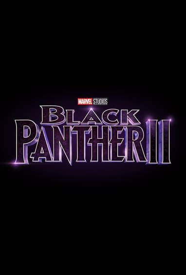 Marvel Studios Black Panther 2 Movie Logo on Black