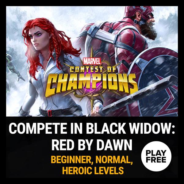 Marvel Insider Challenge: Compete in Marvel Contest of Champions Black Widow: Red by Dawn