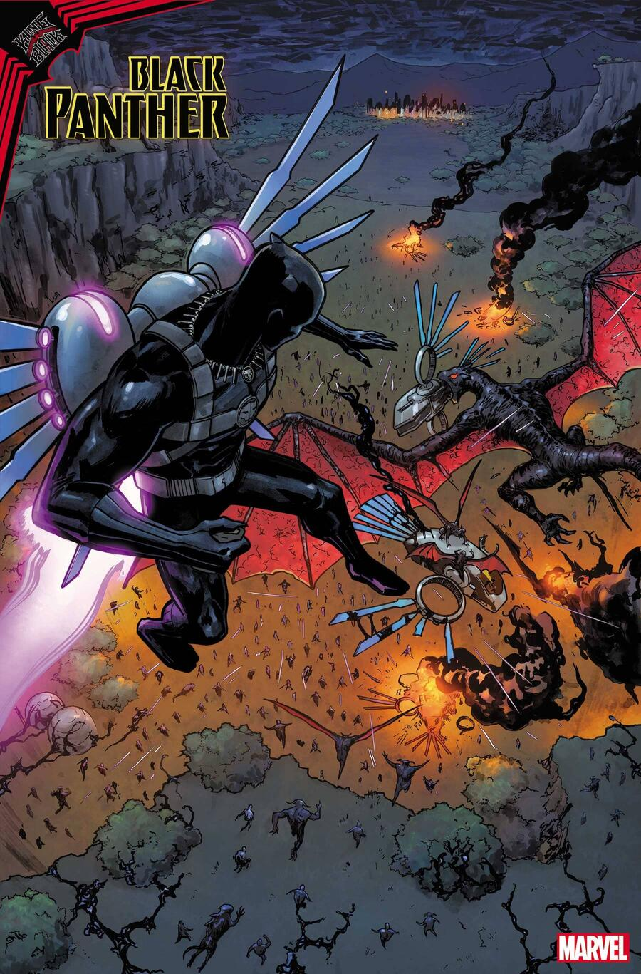 KING IN BLACK: BLACK PANTHER #1 preview art by Germán Peralta with colors by Jesus Aburtov