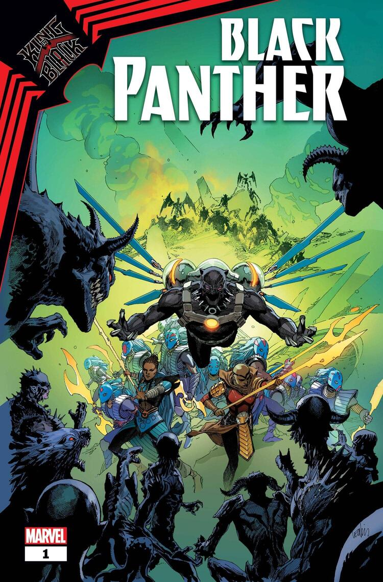 KING IN BLACK: BLACK PANTHER #1 cover by Leinil Francis Yu
