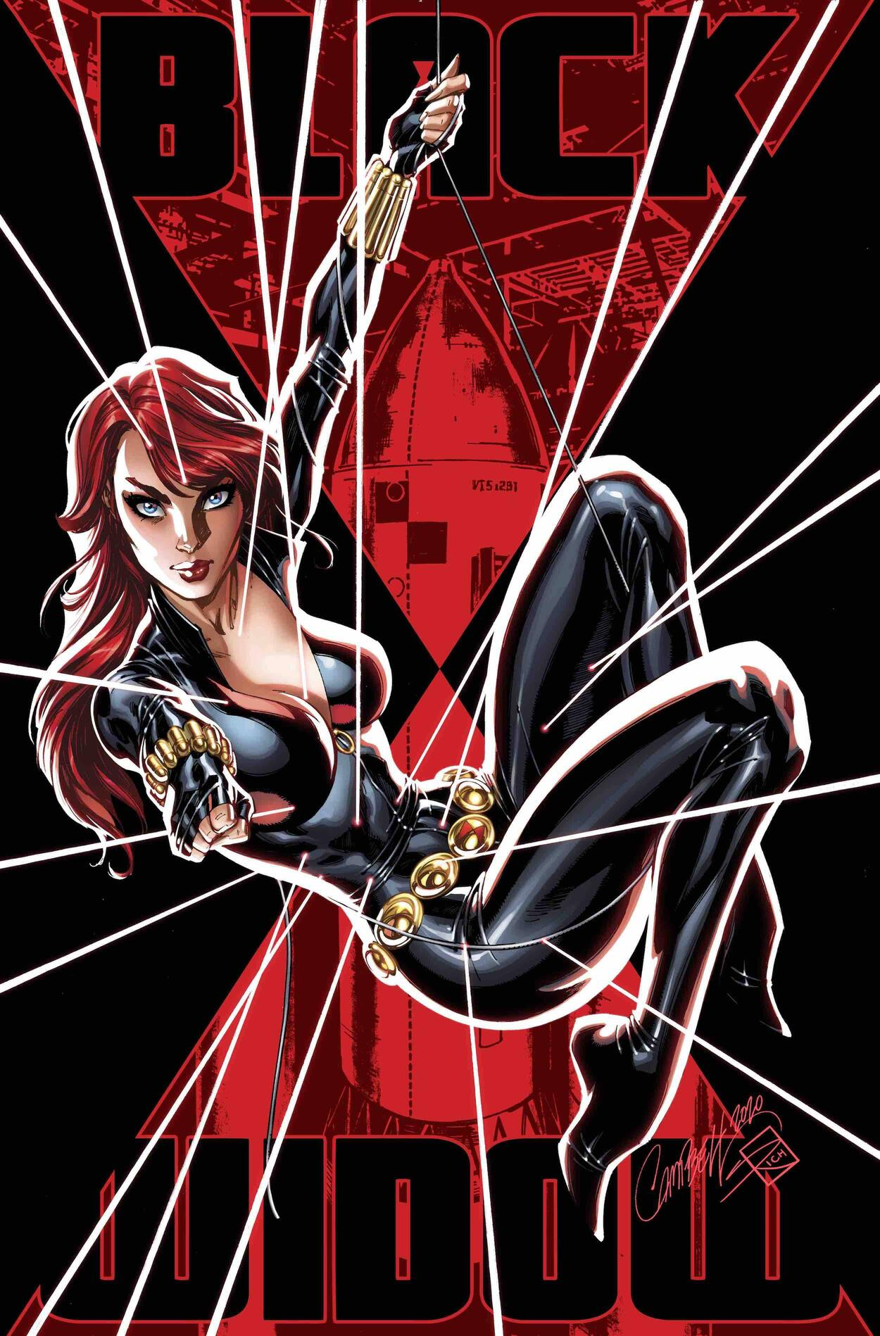 BLACK WIDOW #3 Glow-in-the-Dark variant cover by  J. Scott Campbell