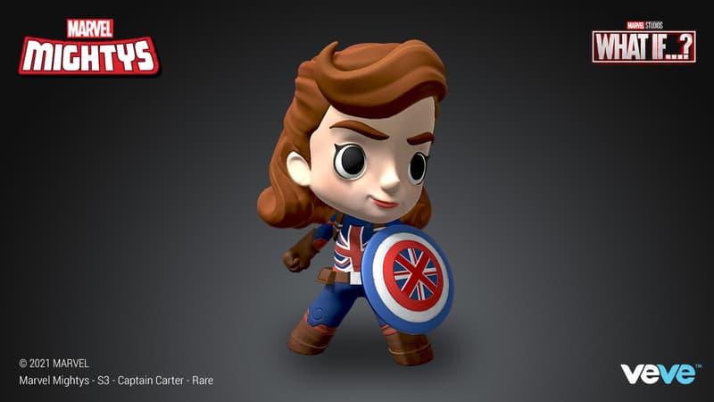 RARE — Marvel Mightys– Captain Carter